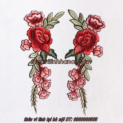 mẫu thêu hoa lên áo so mi cực đẹp