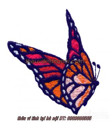 mẫu thêu con bướm đen